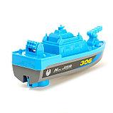 Катер «Береговая охрана», работает от батареек, цвета МИКС., фото 3