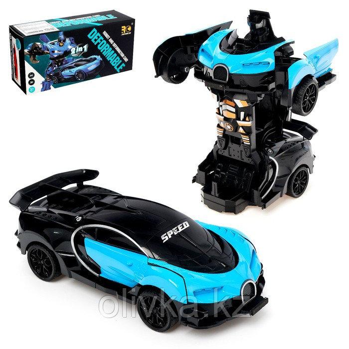 Робот инерционный «Широн», трансформируется при столкновении, цвета МИКС