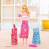 Кукла модель «Арина» с летними нарядами и аксессуарами, МИКС, фото 3