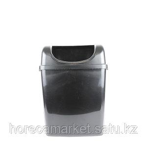 Ведро для мусора 6 л настенное без крышки черный