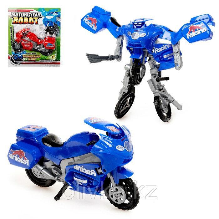 Робот-трансформер «Мотоцикл», цвета МИКС