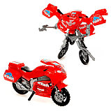 Робот-трансформер «Мотоцикл», цвета МИКС, фото 2