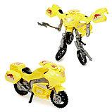Робот-трансформер «Мотоцикл», цвета МИКС, фото 3