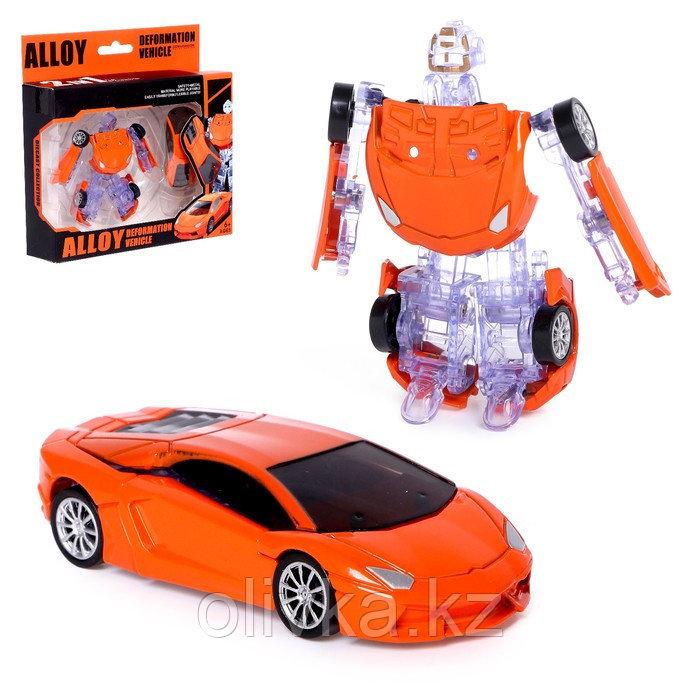 Робот-трансформер «Спорткар», с металлическими элементами