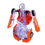 Робот-трансформер «Спорткар», с металлическими элементами, фото 3