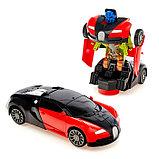 Машина-трансформер «Автобот», световые и звуковые эффекты, работает от батареек, цвета МИКС, фото 2