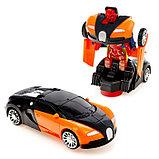 Машина-трансформер «Автобот», световые и звуковые эффекты, работает от батареек, цвета МИКС, фото 3