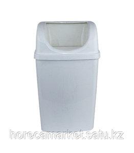 Ведро для мусора 50 л настенное без крышки белый