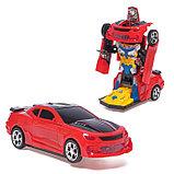 Робот-трансформер «Автобот», световые и звуковые эффекты, работает от батареек МИКС, фото 2
