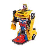 Робот-трансформер «Автобот», световые и звуковые эффекты, работает от батареек МИКС, фото 3