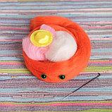 Набор для творчества. Игрушка из шерсти «Котёнок в шляпе», фото 3