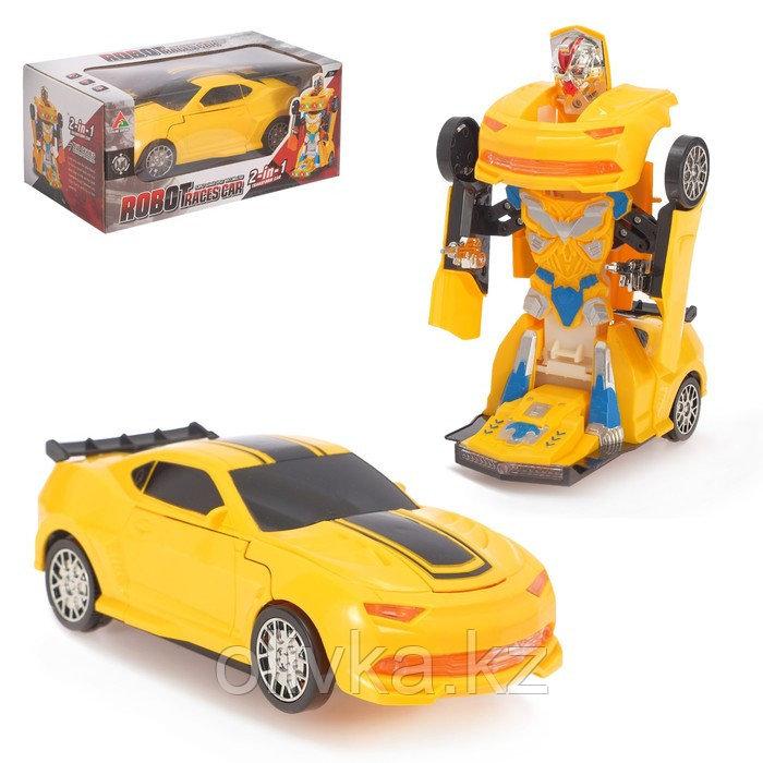 Робот «Автобот», трансформируется, световые и звуковые эффекты, работает от батареек