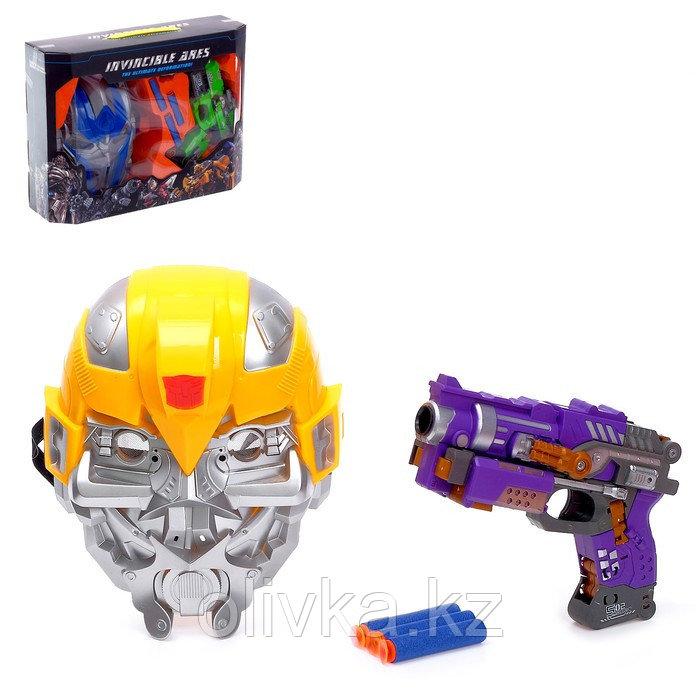 Робот-трансформер «Бластер с маской», стреляет мягкими пулями, цвет жёлтый