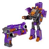 Робот-трансформер «Бластер с маской», стреляет мягкими пулями, цвет жёлтый, фото 2