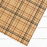 Бумага крафт «Клетка», 50 х 70 см, фото 3