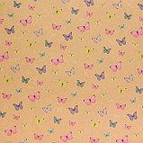 Бумага крафт «Воздушные бабочки», 50 х 70 см, фото 4