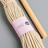 Панно «Полумесяц» набор для плетения макраме, белое 32х5,2х8,2, фото 2