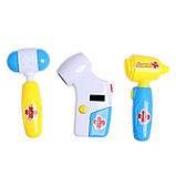 Набор медсестры, 8 предметов с сумкой, световой и звуковой эффект, фото 3