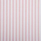 "Бумага упаковочная, ""Полоски"", крафт белый, розовая, 50 х 70 см, фото 2"
