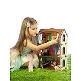 Деревянный домик с цветными обоями «Лоли», фото 4