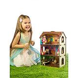 Деревянный домик с цветными обоями «Лоли», фото 5