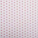 "Бумага упаковочная, ""Горох крупный"", крафт белый, розовая, 50 х 70 см, фото 2"
