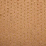 """Бумага упаковочная, """"Горох крупный"""", крафт, золотая, 50 х 70 см, фото 2"""