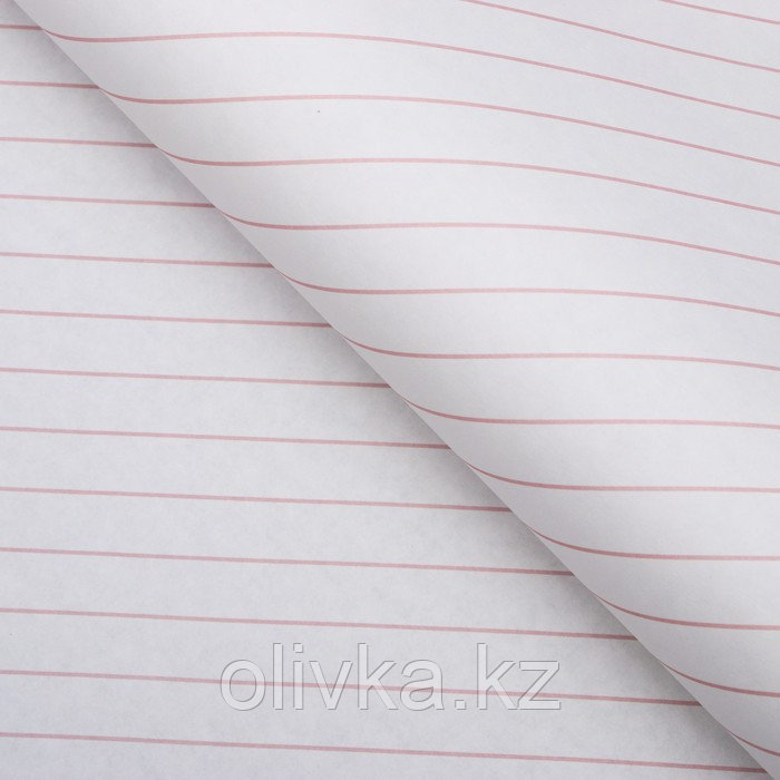 """Бумага упаковочная, """"Люрекс"""", крафт белый, розовая, 50 х 70 см"""