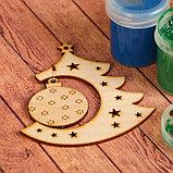 Заготовка для творчества «Ёлочка с новогодней игрушкой», подвеска, фото 3