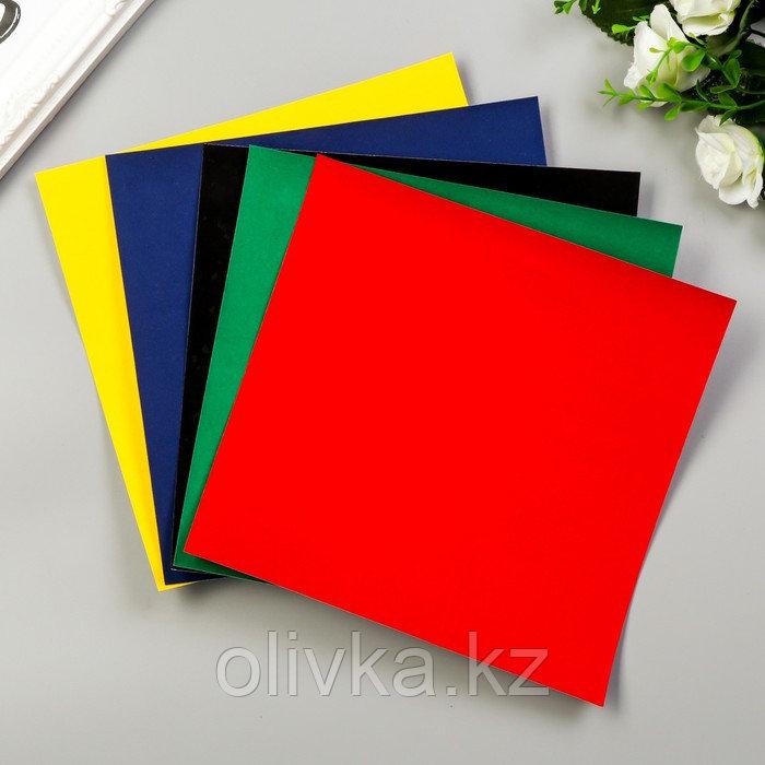 """Цветная бумага бархатная """"Волны"""" набор 5шт, А5, 140 гр/м2"""