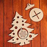 Сувенир «Елочка со снежинкой» на подставке, фото 4
