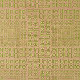 "Бумага упаковочная крафт ""Буквы"", салатовый на коричневом, 0,7 х 8,5 м, 70 г/м2, фото 2"