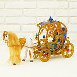 Карета для кукол с куклой, лошадка ходит, фото 2