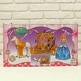 Карета для кукол с куклой, лошадка ходит, фото 4