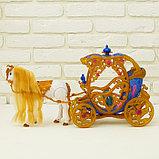 Карета для кукол с куклой, лошадка ходит, фото 5