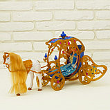 Карета для кукол с куклой, лошадка ходит, фото 7