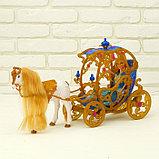 Карета для кукол с куклой, лошадка ходит, фото 10