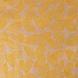 """Бумага упаковочная крафт """"Листья"""", желтый на коричневом, 0,7 х 8,5 м, 70 г/м2, фото 2"""