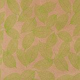 """Бумага упаковочная крафт """"Листья"""", салатовый на коричневом, 0,7 х 8,5 м, 70 г/м2, фото 2"""