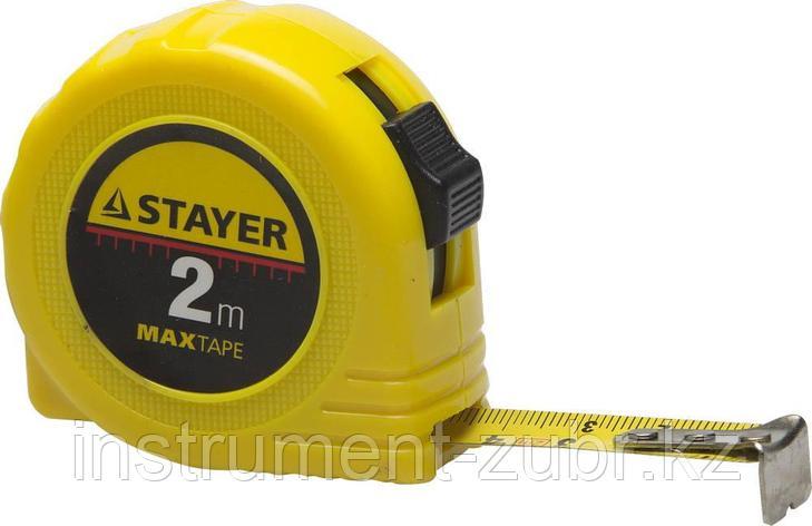 "Рулетка STAYER ""МASTER"" ""MaxTape"", пластиковый корпус, 2м/16мм, фото 2"