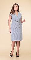 Платье Дали-3431, полоска, 48