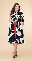 Платье Дали-5466, черно-белый, 56