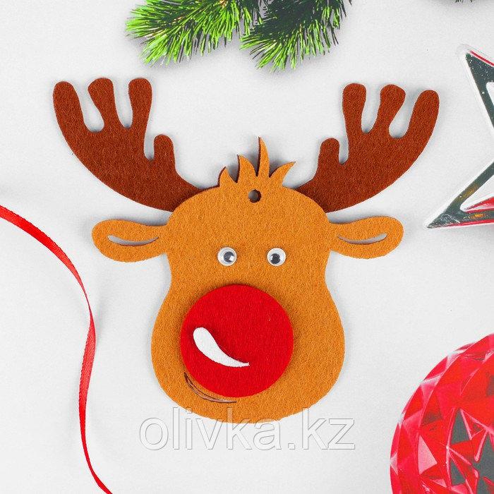 Набор для творчества - создай ёлочное украшение из фетра «Милый олень»