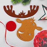 Набор для творчества - создай ёлочное украшение из фетра «Милый олень», фото 2