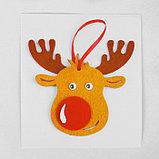 Набор для творчества - создай ёлочное украшение из фетра «Милый олень», фото 3