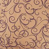 """Бумага упаковочная крафт """"Серпантин"""", фиолетовый на коричневом, 0,7 х 8,5 м, 70 г/м2, фото 2"""