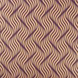 """Бумага упаковочная крафт """"Сюита"""", фиолетовый на коричневом, 0,7 х 8,5 м, 70 г/м2, фото 2"""