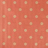 """Бумага упаковочная крафт """"Шик"""", красный на коричневом, 0,7 х 8,5 м, 70 г/м2, фото 2"""
