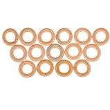 Кольца деревянные d=20 мм (набор 15 шт) без покрытия, фото 2