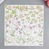 "Набор бумаги ""Аромат цветов"" 13 листов 30,5 х 30,5 см  МИКС, фото 3"